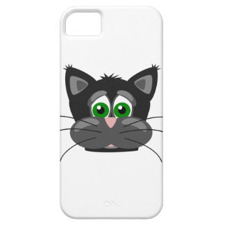Green-eyed black Cat iPhone 5 Cases