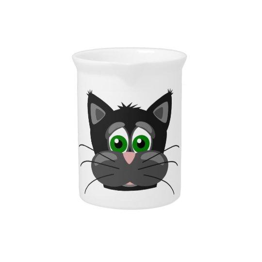 Green-eyed black Cat Pitcher