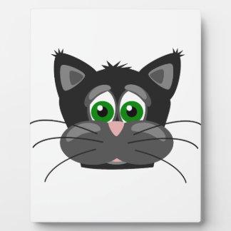 Green-eyed black Cat Plaque