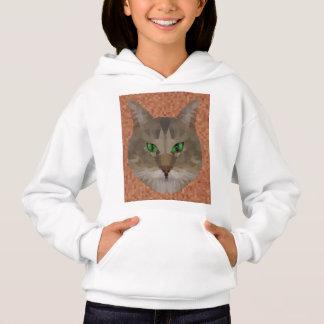 Green Eyed Cat Polygon Graphic Design,