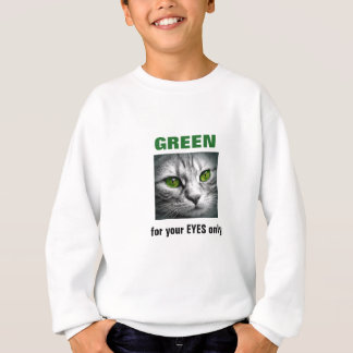 green eyed cat sweatshirt