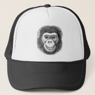Green-Eyed Chimp Trucker Hat