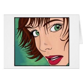 Green Eyed Girl Card