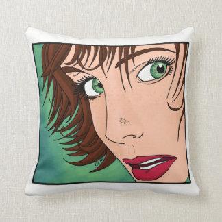 Green Eyed Green Throw Pillow
