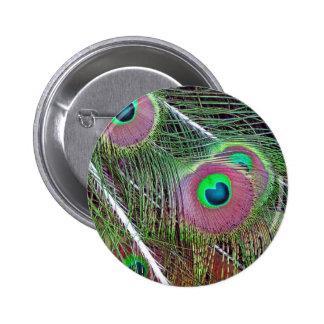 Green Eyed Majesty 2 Inch Round Button