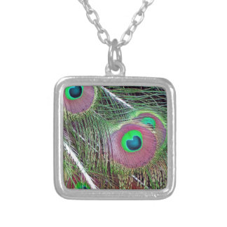 Green Eyed Majesty Silver Plated Necklace