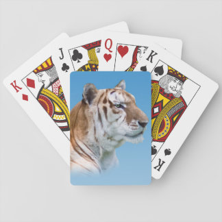 Green-eyed Tiger in Profile Playing Cards