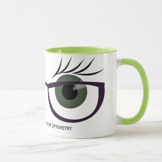 Green Eyes and Glasses Mug