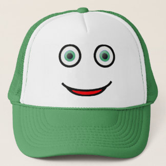 Green Eyes Happy Smiley Face Trucker Hat