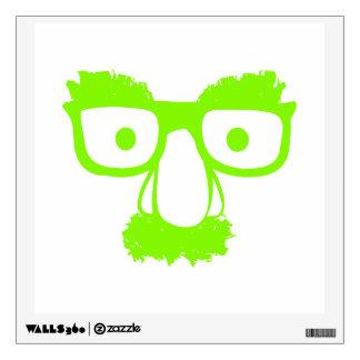 GREEN FACE WALL STICKER