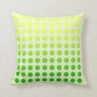Green Fade Polka Dot Design Pillow 2