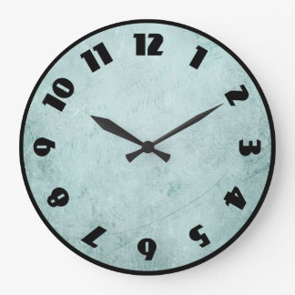Green Faded Texture with Vintage Style Handwriting Wall Clock