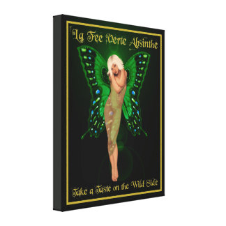 Green Fairy Absinthe Gallery Wrapped Canvas