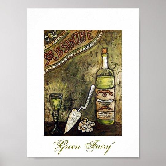 """""""Green Fairy"""" Absinthe Poster"""