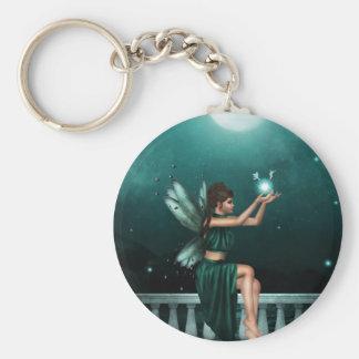 Green Fairy Basic Round Button Keychain