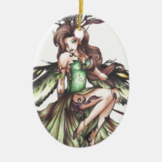 green fairy ceramic ornament