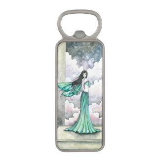 Green Fairy Fantasy Art Magnetic Bottle Opener