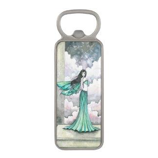 Green Fairy Fantasy Art Magnetic Bottle Opener