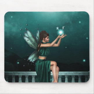 Green Fairy Mouse Pad
