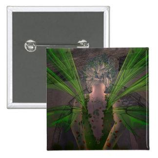 Green Fairy @ Secret Door 2 Inch Square Button