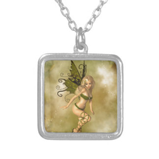 Green Fairy Silver Plated Necklace