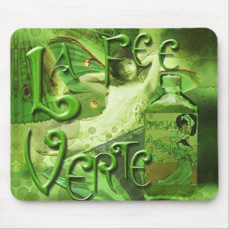 Green Fairy Splashy Collage IV Mouse Pad