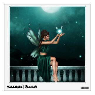 """Green Fairy"" Wall Decal"