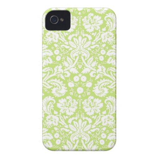 Green fancy damask pattern blackberry bold covers