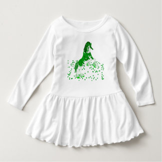 Green Fantasy Clydesdale Horse Clover Dress