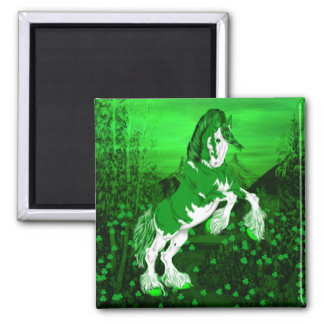 Green Fantasy Clydesdale Horse Magnet