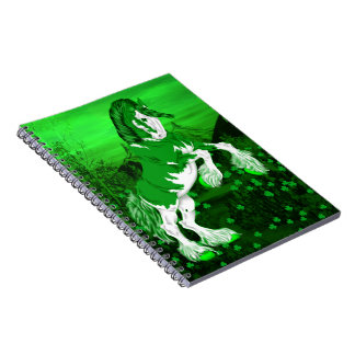 Green Fantasy Clydesdale Horse Note Book