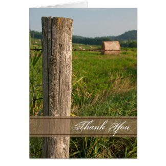 Green Farm Pastures Country Thank You Note Card