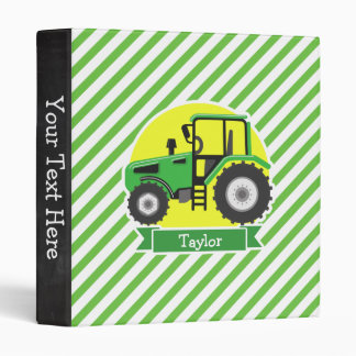 Green Farm Tractor with Yellow;  Green & White Vinyl Binders