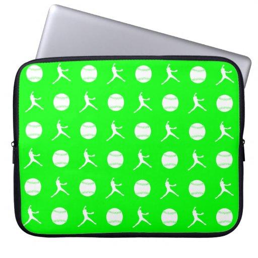 Green Fastpitch Laptop Sleeve