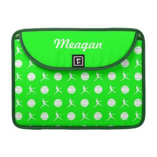 Green Fastpitch MacBook Pro Sleeve