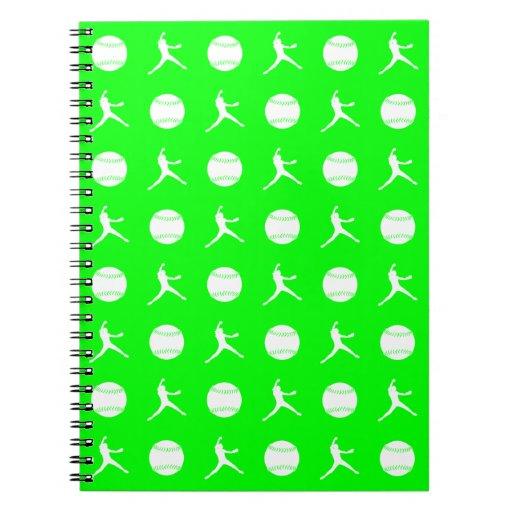 Green Fastpitch Pattern Notebook