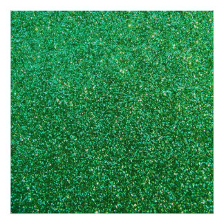 Green faux glitter graphic poster