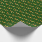 Green, Faux Gold 18th (Eighteenth) Event Wrapping Paper