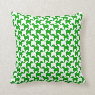 Green Faux Houndstooth Choose color Pillow