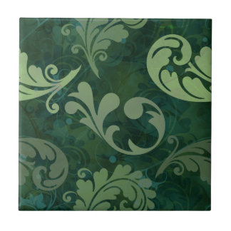 Green, Feather, Quill, Feathers, Elegant, Lush, Ceramic Tile