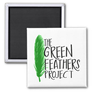 Green Feathers Project Mini Magnet