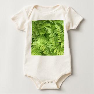 Green Fern Baby Bodysuit