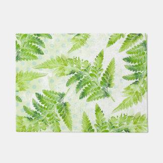 Green Fern Beautiful Spring Summer Leaves Doormat
