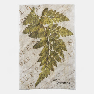 Green Fern Botanical Ferns Tropical Template Kitchen Towel