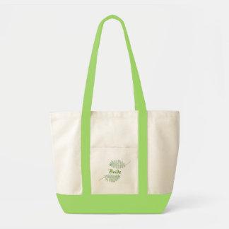 Green Fern, Bride canvas bags