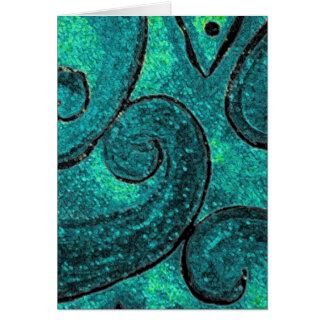 Green fern frond NZ Koru, piko piko or fiddlehead Card