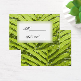 Green Fern Frond Wedding Place Cards