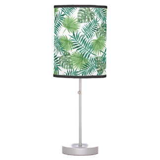 Green Fern Garden Plant Leaves Nature Tropical Table Lamp