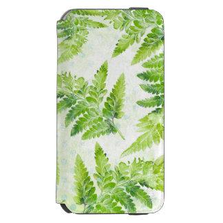 Green Fern Leaves Beautiful Botanical Watercolor Incipio Watson™ iPhone 6 Wallet Case