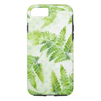 Green Fern Leaves Modern Botanical Watercolor iPhone 8/7 Case